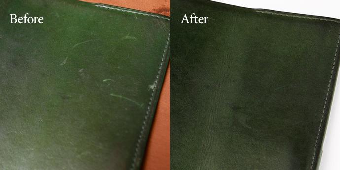 革製品のお手入れコラム『革製品のトラブル対処テク 2. 引っかき傷が目立って困る...』を公開しました。