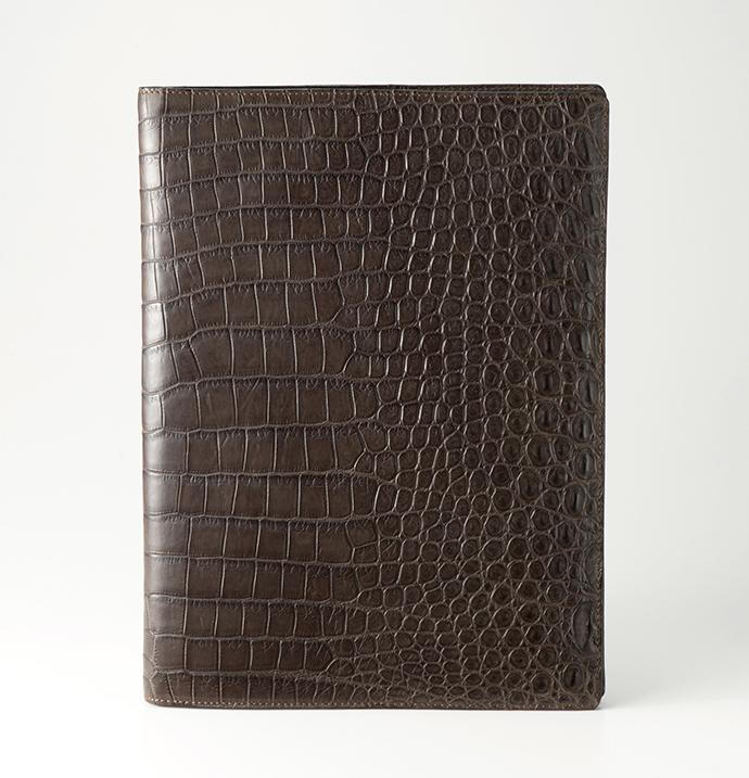 クロコダイル革 ブックカバー/山本製鞄
