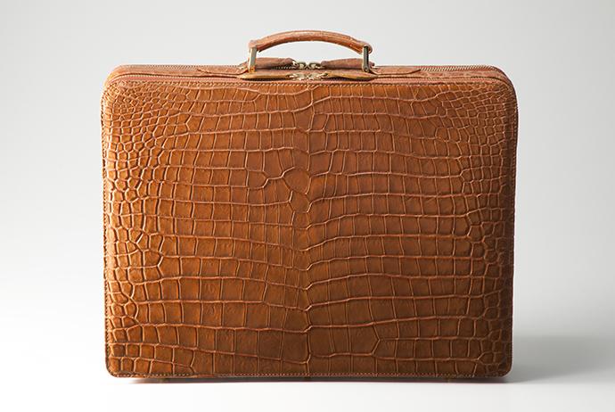 クロコダイル革 アタッシュケース/山本製鞄