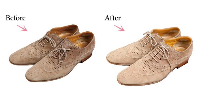 革製品のお手入れコラム『革製品のトラブル対処テク 3. 薄汚れたスエード靴をきれいにしたい!』を公開しました。