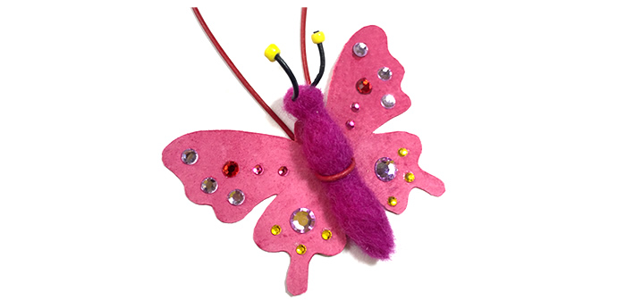 フェルトで作る「蝶の蝶ネクタイ」 TIME & EFFORT WORKSHOP <br /> 開催日:11/7(土)、8(日)