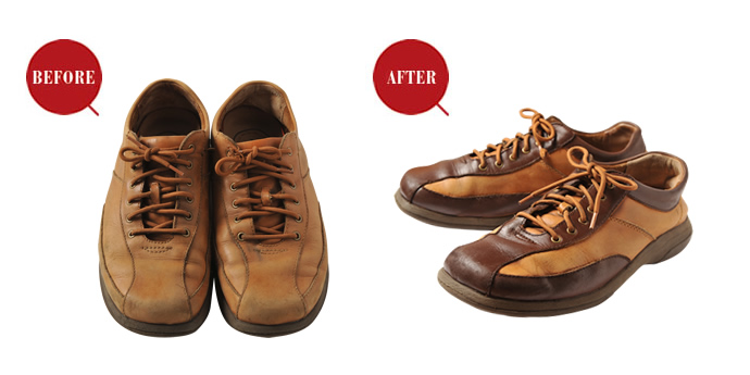 革製品のお手入れ - 『プロに任せて安心キレイ!愛用品のリペア&カスタム CASE_2 履き古した靴のカラーチェンジがしたい!』を公開しました。