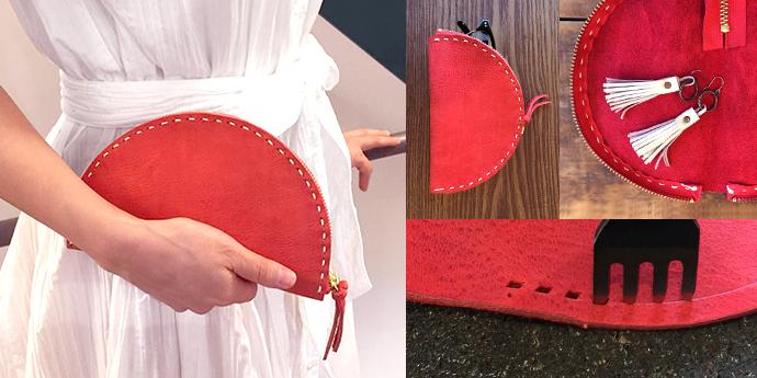 ハンドメイドレシピ - 『手縫いでつくる ポーチ&ミニクラッチバッグ』を公開しました。